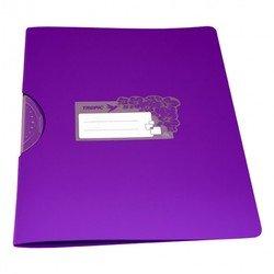 Папка с фигурным клипом Бюрократ TROPIC TR550 (розовый)