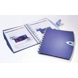 Папка Durable Duralook Easy Walk 20 съемных листов-конвертов синий пластик застежка-клапан А4