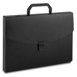 Пластиковая папка-портфель A4 с 1 отделением, 0.7 мм (Бюрократ BPP01BLCK) (черный)