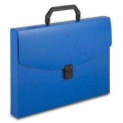 Пластиковая папка-портфель A4 с 1 отделением, 0.7 мм (Бюрократ BPP01BLUE) (синий)
