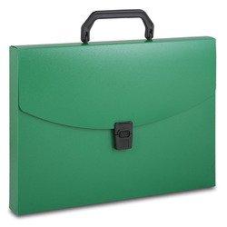 Пластиковая папка-портфель A4, 1 отделение, 0.7 мм (Бюрократ BPP01grn) (зеленый)