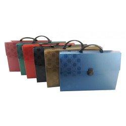 Пластиковая папка-портфель A4, 1 отделение, 0.7 мм (Бюрократ CONCEPT CONPP01) (ассорти)