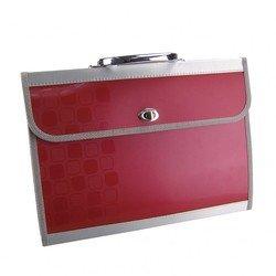 Пластиковая папка-портфель A4, 4 отделения, 0.8 мм (Бюрократ CONCEPT CONPP04) (ассорти)