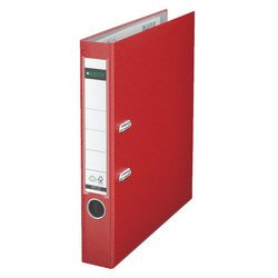 Пластиковая папка-регистратор A4, 50 мм (Leitz 10151225P) (красный)