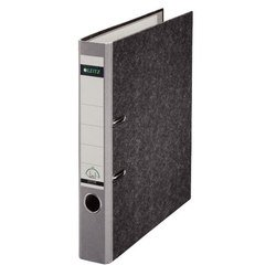 Папка-регистратор A4, 50 мм, картон (Leitz 10500285P) (серый)