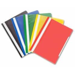 Папка-скоросшиватель 10 вкладышей, А4, боковая (Бюрократ PS10) (красный)