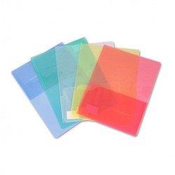 Папка-уголок Бюрократ E560blu 2 внутренних горизонтальных кармана А4 пластик 0.40мм синий