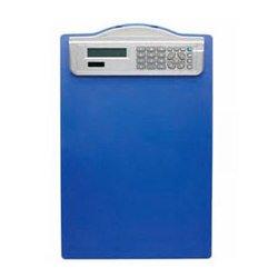 Папка-планшет Alco 5518-15 CLIPBOARD формата А4 с калькулятором синий пластиковая коробка