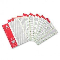 Индексные разделители Бюрократ ID106 А4 пластик цифровой 1-12 серый