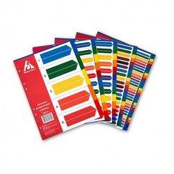 Индексные разделители Бюрократ ID116 А4 пластик 12 цветных разделов