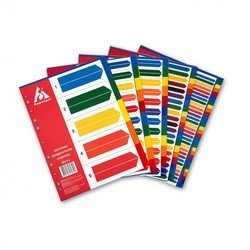 Индексные разделители Бюрократ ID118 А4 пластик 31 цветной раздел