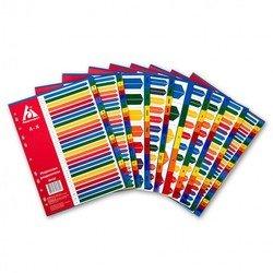 Индексные разделители Бюрократ ID121 А4 пластик A-Z цветные