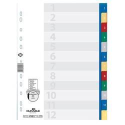 Индексные разделители Durable пластик 12 цветных разделов (6750-27)