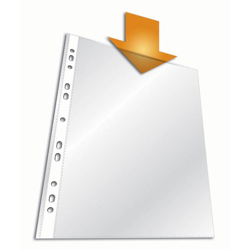 Папка-вкладыш Esselte с перфорацией A4 55мкр прозрачный глянцевый 100шт 56066