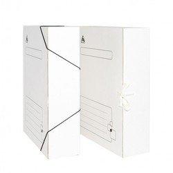 Папка на завязках Бюрократ KPA-75Zwt микрогофрокартон 75мм белый