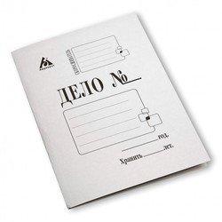 Папка-обложка Бюрократ PO260M картон мелованный 0.4мм 260г/м2 белый