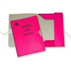 Папка на завязках Бюрократ PZ320Mred картон мелованный 0.6мм 320г/м2 красный
