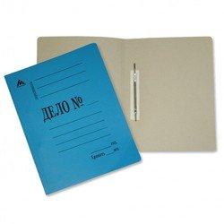 Скоросшиватель Бюрократ SK260Mblue картон мелованный 0.4мм 260г/м2 синий