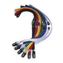 Шнур Durable текстильный для бейджей Durable 10шт/уп длина 44см красный