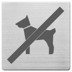 Пиктограмма Alco 450-16 Вход с животными запрещен 90х90мм металл