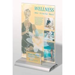 Табличка Durable настольная двусторонняя Presenter A4 Plus акриловая панель д/визиток 54*90мм прозр