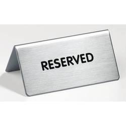 Табличка Durable -4960-65 настольная «Зарезервировано» 85x36x50 металлическая англ