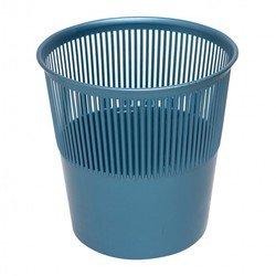 Корзина для бумаг Унипласт 220456 сетчатая 10 литров синий