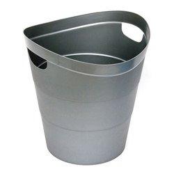 Корзина Унипласт для бумаг 220526 цельная 2002 14 литров серый