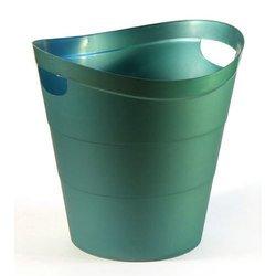 Корзина Унипласт для бумаг 220527 цельная 2002 14 литров зеленый