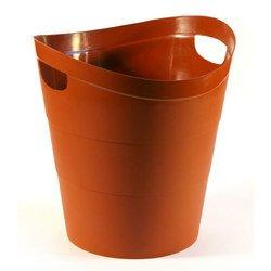 Корзина Унипласт для бумаг 220529 цельная 2002 14 литров коричневый