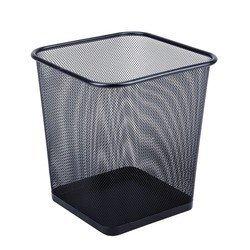Корзина для бумаг Бюрократ BLD01-128 квадратная сетчатая металлическая 26.5х26.5х30см черный