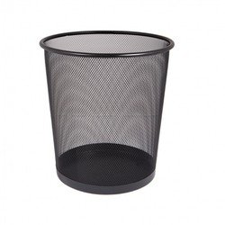 Корзина для бумаг Бюрократ BLD01-508-1 сетчатая металлическая 9л черный