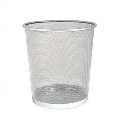 Корзина для бумаг Бюрократ BLD01-509-1 сетчатая металлическая 9л серебристый