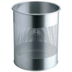 Корзина Durable металлическая мусорная 15л круглая сетка шириной 16,5см высота 31см серебристая