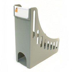 Лоток для бумаг Унипласт вертикальный 2200919 Уни-100 серый 250х100х285мм