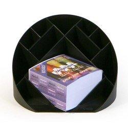 Подставка для канц мелочей Унипласт 220499 «ФОРУМ» черный 180х180х100мм