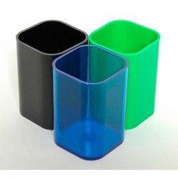 Подставка для карандашей Унипласт 220516 прозрачно-синий 70х70х100мм
