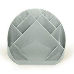 Подставка для канц мелочей Унипласт 220518 «ФОРУМ» серый 180х180х100мм