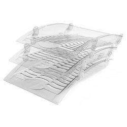 Набор из трех лотков Унипласт 220575 Бриз прозрачный инд. Упаковка