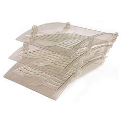 Набор из трех лотков Унипласт 220576 Бриз дымчатый инд. упаковка