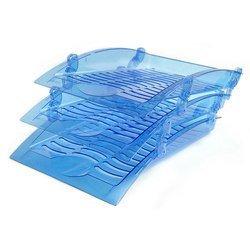 Набор из трех лотков Унипласт 220577 Бриз прозрачно-синий инд. упаковка