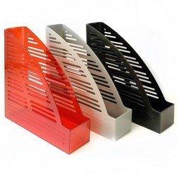 Лоток вертикальный Унипласт 220617 Уни-65 прозрачно-красный 250х70х320мм