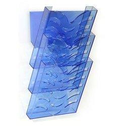 Накопитель Унипласт 220708 Универсал 3-секционный прозрачно-синий формат А4
