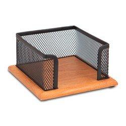Бокс для кубарика Бюрократ BLD01-498-15 металлическая сетка+дерево черный 11.5х11.5х6.2cm