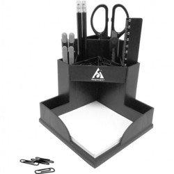 Настольный набор Бюрократ BC509 Комфорт пластиковый 9 предметов черный