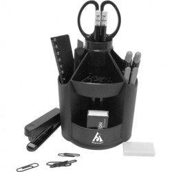 Настольный набор Бюрократ BC519 вращающийся Офис пластиковый 11 предметов черный