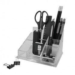 Настольный набор Бюрократ BC721 Эстет пластиковый 12 предметов прозрачный