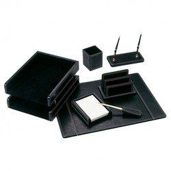 Набор настольный Good Sunrise BK7W-1A МДФ/искуственная кожа 7 предметов черный