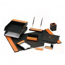 Набор настольный Good Sunrise H8G-1A/C деревянный/МДФ 9 предметов медовый/черный
