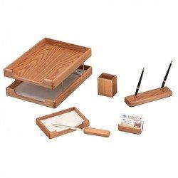 Набор настольный Good Sunrise K6B-35A деревянный 6 предметов фактура - дуб оттенок - светлый